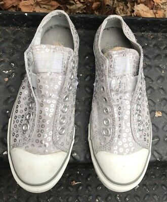 Converse One Star Low Womens 9 Shoes Metallic Glitter