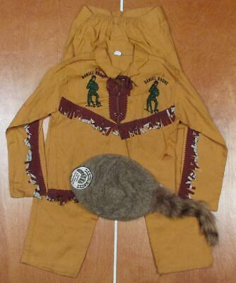 Vintage 1960s Daniel Boone Outfit Boys Frontier Costume - Frontier Boys Kostüme