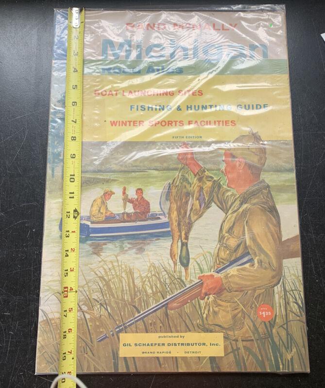 Vintage Rand Mcnally Michigan Road Atlas Fifth Edition HUGE NICE