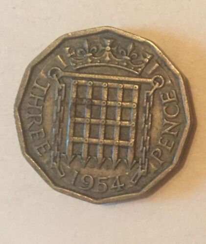 1954 Great Britain Threepence Coin UK Foreign Coin World Coin Old Money Antique