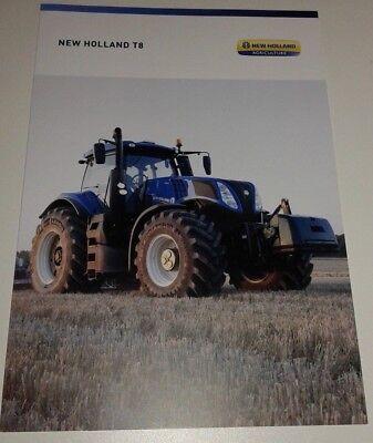 NEW HOLLAND T8 Traktoren Prospekt 10/17 ( NH 206 )
