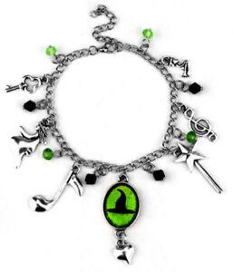 Broadway's Hit Musical Wicked Defy Gravity Silvertone Charm Bracelet