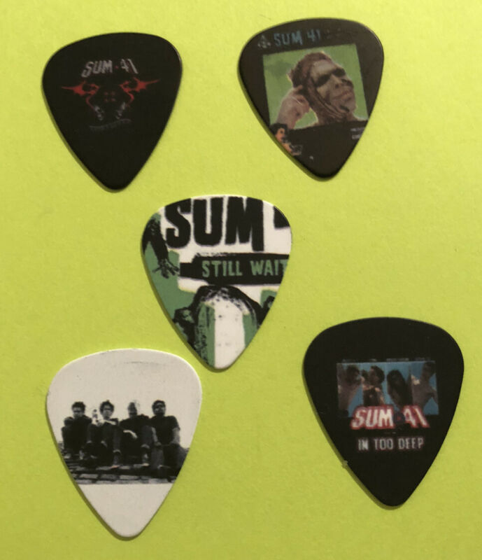 SUM 41 Collectors Guitar Pick Lot of 5  - 2 Sided Print ~ NWOT~ Free Shipping #2