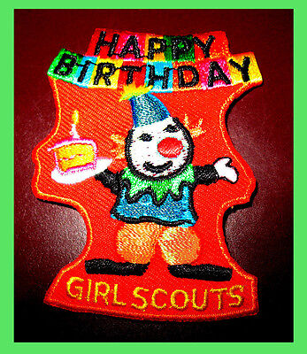 Juliette Low HAPPY BIRTHDAY Party Girl Scout Patch Halloween, Fall  Multi=1 Ship