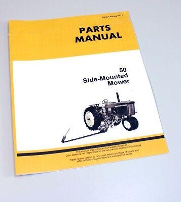 Parts Manual For John Deere 50 Side Mounted Mower Parts Manual Catalog