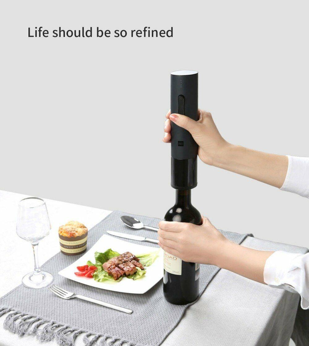 Cavatappi Elettrico Huohou, Automatico, Apribottiglie Vino Xiaomi Mijia, Taglier