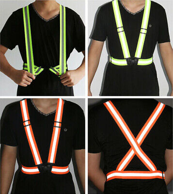 Wholesale High Visibility Reflective Vest Running Gear Safety Reflector Strap Us