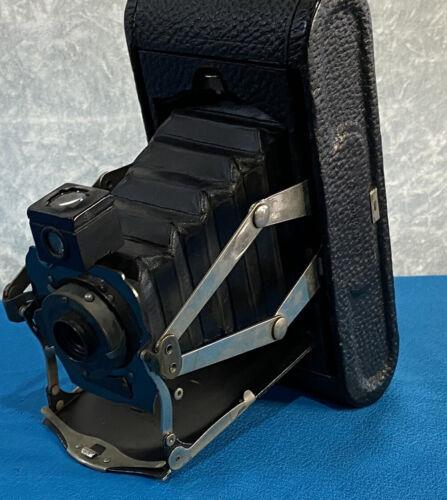 Kodak Folding Camera NO 1A Pocket Automatic Aug 31 1909 110 Years Old Leather  - $89.99