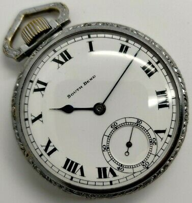Vintage South Bend Grade 219 19 jewel 16s pocket watch Running