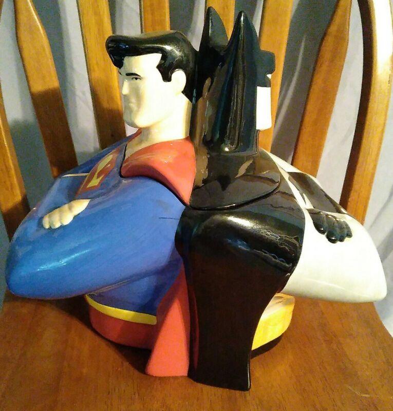 Warner Bros Superman And Batman Cookie Jar