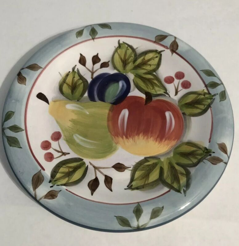 """Heritage Mint Black Forest Fruits 8"""" salad plate New w/ tags (set of 3)"""