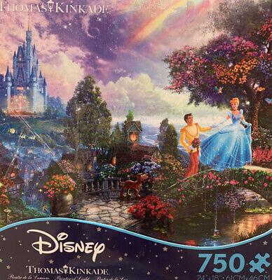 Thomas Kinkade Disney Ceaco 750 Piece Jigsaw Puzzle CinderellaCastle Prince