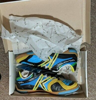 7dc855134 Kelme Star 360 Michelin Mens Leather Indoor Soccer Shoes Turquoise 8.5 Us