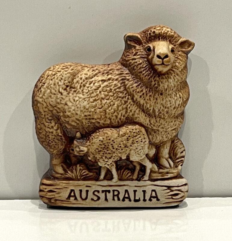 Sheep Magnet Swagman Pottery Australian Made