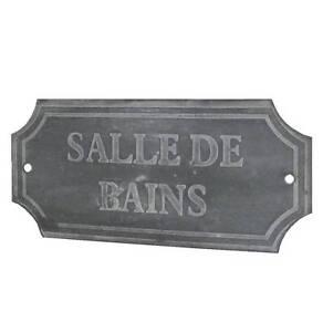 style ancienne plaque de porte style brocante campagne industriel salle de bains. Black Bedroom Furniture Sets. Home Design Ideas
