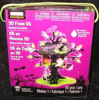 New Halloween 3D Haunted Tree House Foam Kit 55 pcs Project School Kids 6 to 96](Halloween Haunt Projects)