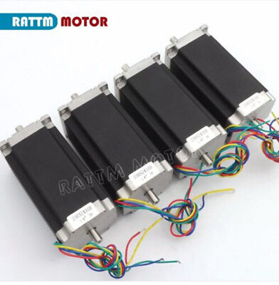 4x High Torque Stepper Motor Nema23 2.8nm425oz.in 3a Dual Shaft Cnc Router Kit