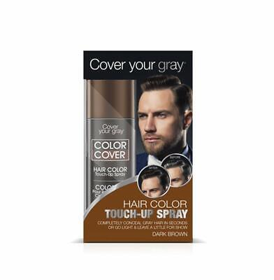 Cover Your Gray for Men Color Cover Hair Color Touchup Spray - Dark Brown 6-PACK](Color Spray For Hair)