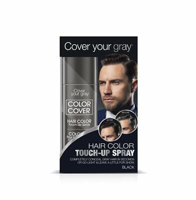 Cover Your Gray for Men Color Cover Hair Color Touchup Spray - Black (2-PACK)](Color Spray For Hair)