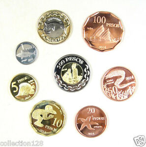EASTER-ISLAND-Coins-Set-of-8-Pieces-2014-UNC