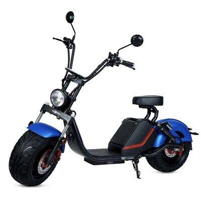 Moto electrica scooter matriculable 1500w 60v 20Ah bateria CityCoco azul/negra