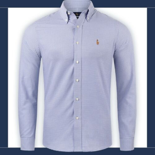 Ralph Lauren Polo Hemd Slim Fit Herren bügelfrei rot blau grau S M L XL 2XL