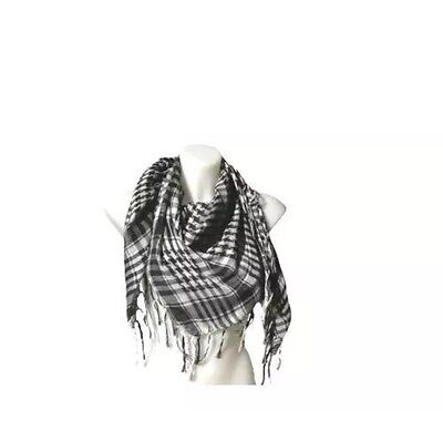 Palestinian Scarf - kieffia palestinian black and white scarf shawl for men and women