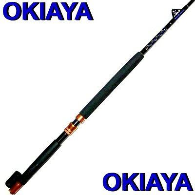 "OKIAYA COMPOSIT 30-80LB ""THE MACK DADDY"" SALTWATER BIG GAME ROLLER ROD"