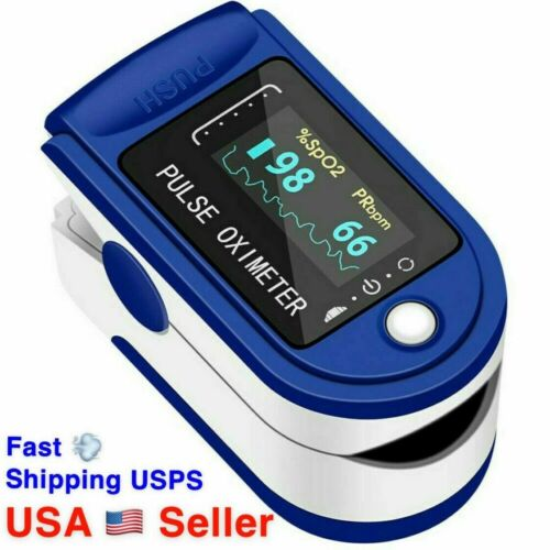 Finger Tip Pulse Oximeter Meter SpO2 Heart Rate Monitor Blood Oxygen Saturation