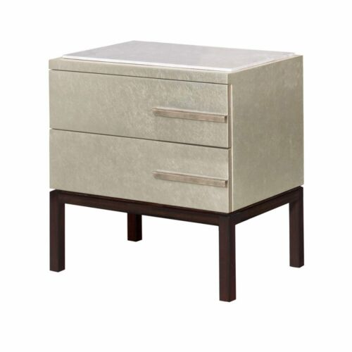 Deco Style Nightstand with Marble Top