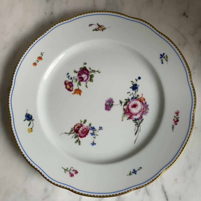 Gorgeous Bernardaud A la Reine DINNER PLATE (7 Available)
