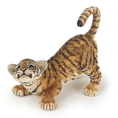 Papo 50183 Tiger Cub Playing Model Wild Animal Figurine Toy - NIP
