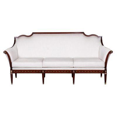 Hand Made Mahogany Three Seater Louis XVI Sofa