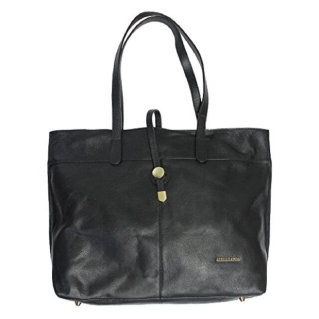 Stella & Max Leather Tote Hand Bag Purse Black Top Zip 1041553 ...
