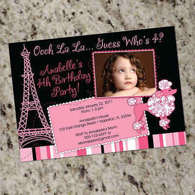 Poodle Birthday Party Invitations (French Poodle Themed Birthday Party Invitations - FREE)