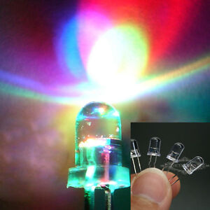 100pcs 5mm RGB Red Green Blue Fast & Slow Flash LED Lamps Rainbow Blink Diode
