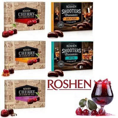 European Dark Chocolate Candy CHERRY SHOOOTERS IN BRANDY RUM LIQUOR from Roshen