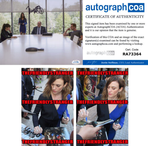 """MAGGIE SIFF signed Autographed """"BILLIONS"""" 8X10 PHOTO a PROOF Wendy Axe ACOA COA"""