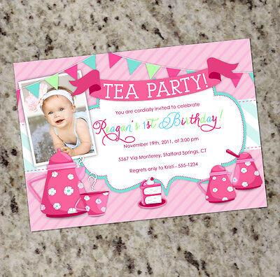 Tea Party Invitations - Any Age - FREE SHIPPING! - Tea Party Invites