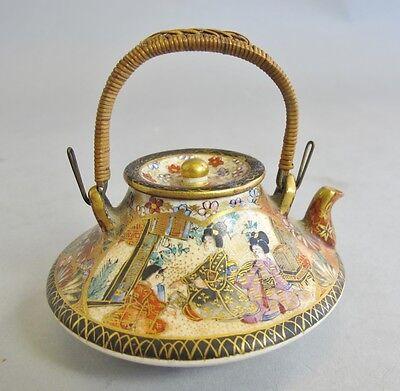 Fine Quality Japanese Meiji-era Antique Satsuma Miniature Teapot c. 1890