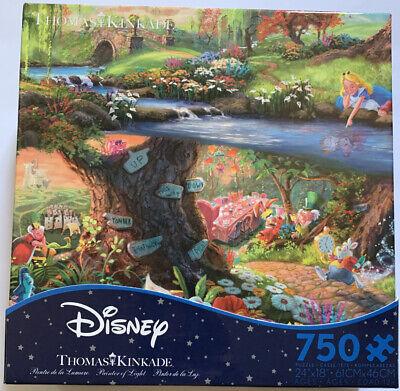 Thomas Kinkade Disney Alice in Wonderland 750 Pc Puzzle New Sealed