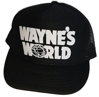 Wayne s World Halloween Costume Snapback Mesh Trucker Hat Cap Garth 90 s 901f272db0a6