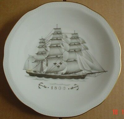 Rörstrand Collectors Plate WITH COMPLIMENTS OF SVENSKA ORIENT LINIEN 1800