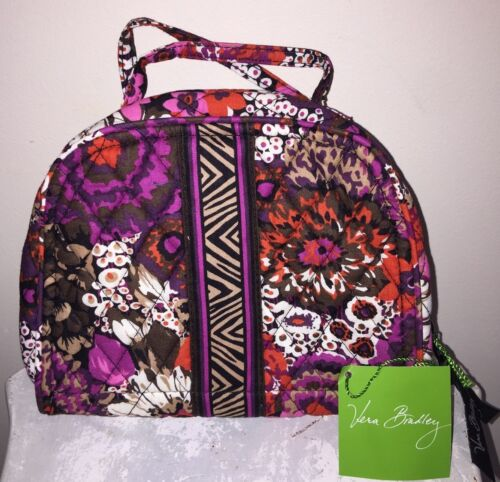 Vera Bradley Travel Jewelry Organizer Rosewood Case Bag R...