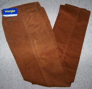 WRANGLER-Jeans-5-tasche-pantalone-in-Fustagno-Pelle-del-Diavolo-Vintage