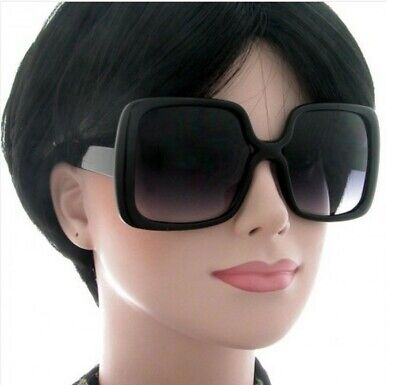 New Women's Vintage Style Black XL Oversized Jackie O Sunglasses Gradient (Jackie O Style Sunglasses)
