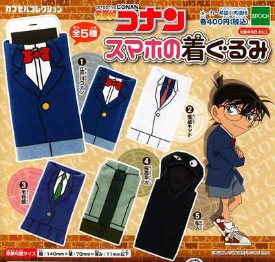 EPOCH Detective Conan Sumaho no costume Gashapon 5 set Accessories capsule toys
