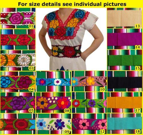 Handmade Mexican Embroidered Sash from Chiapas Zinacantan