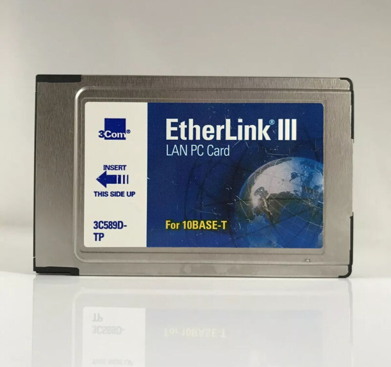 3com 3C589D-TP Etherlink III Lan PC Card for 10BASE-T PCMCIA
