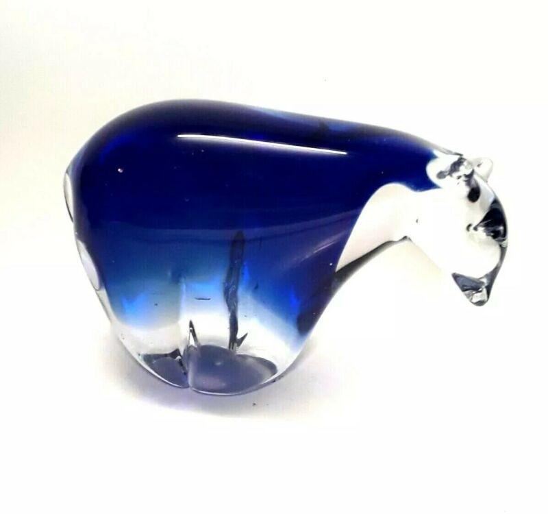 Vintage Art Glass Bear Figurine Paperweight